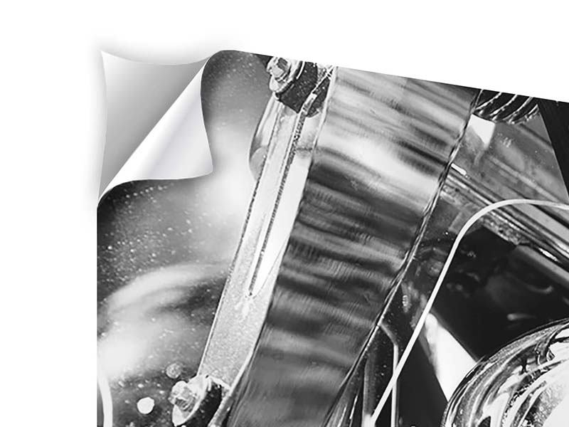Klebeposter 5-teilig modern Motorrad Close Up