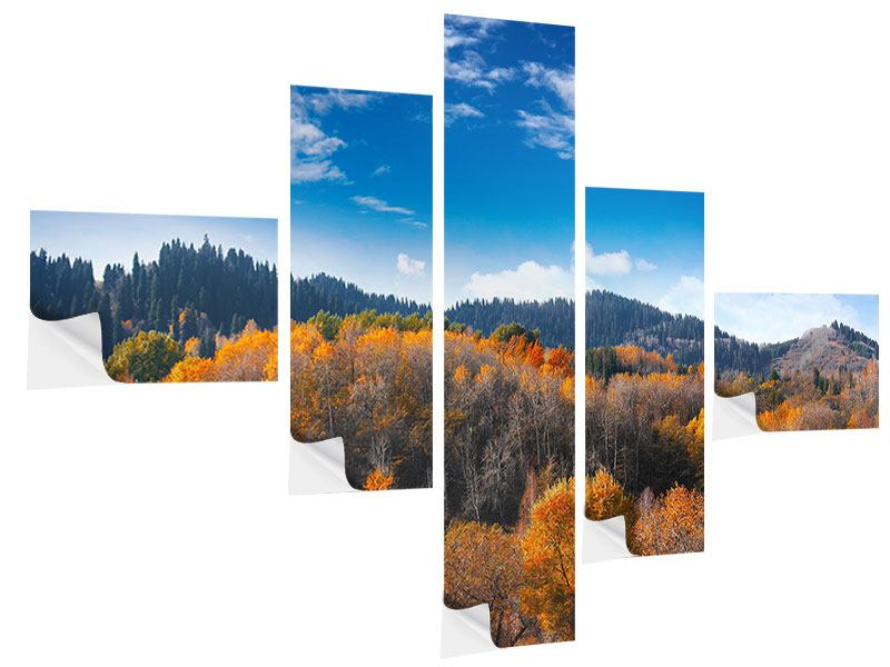 Klebeposter 5-teilig modern Wolken ziehen auf