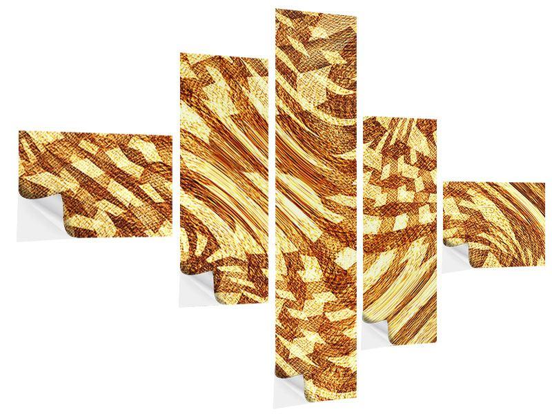 Klebeposter 5-teilig modern Retroperspektive