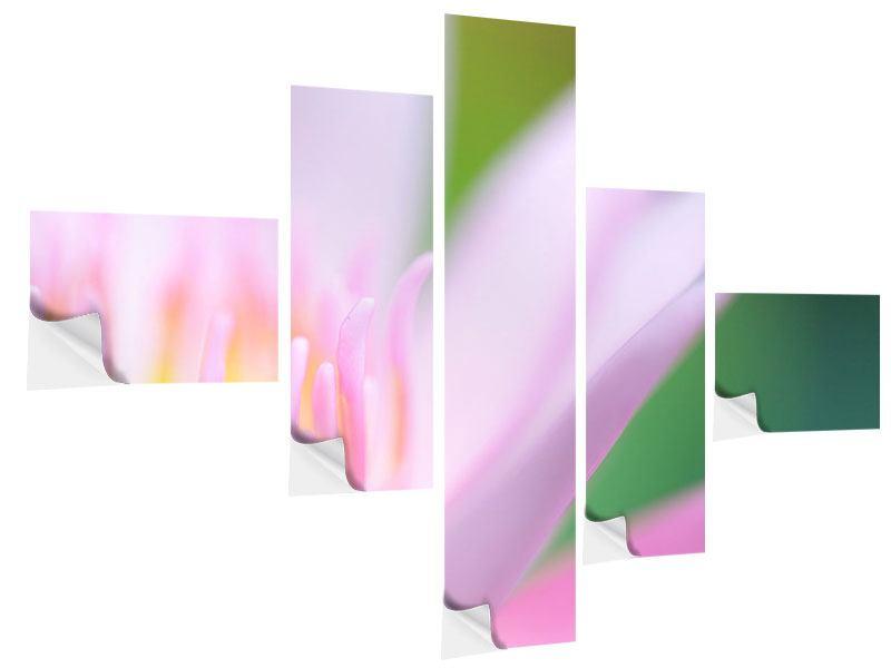 Klebeposter 5-teilig modern XXL-Lilie
