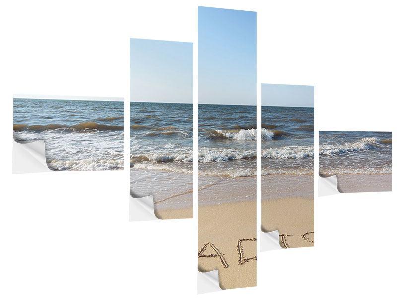 Klebeposter 5-teilig modern Sandspuren