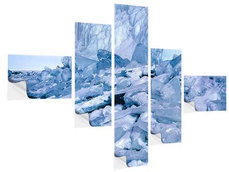 Klebeposter 5-teilig modern Eislandschaft Baikalsee