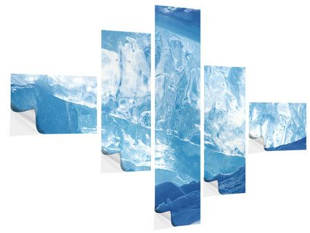 Klebeposter 5-teilig modern Baikalsee-Eis