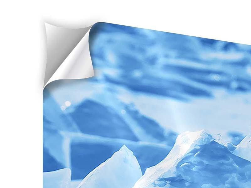 Klebeposter 5-teilig modern Eis des Baikalsees