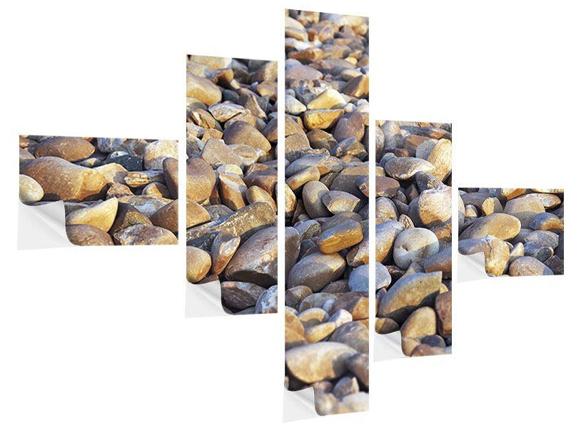 Klebeposter 5-teilig modern Strandsteine