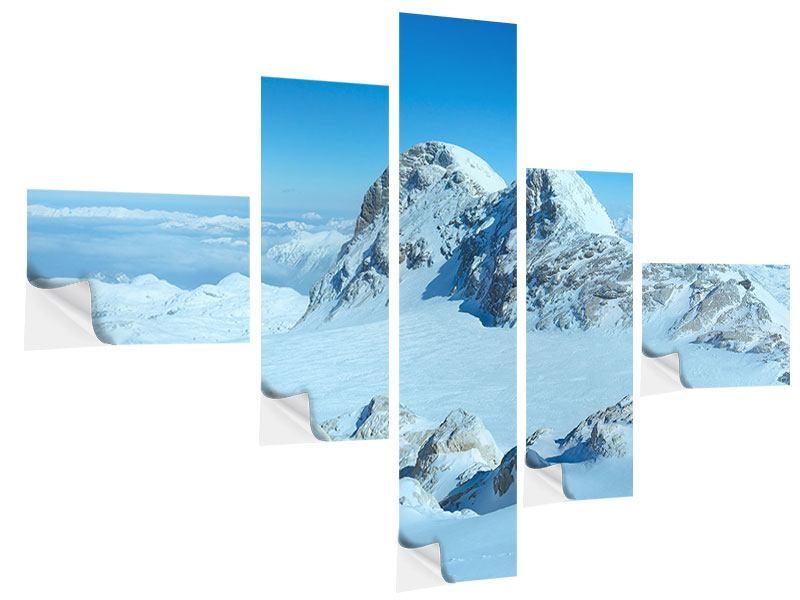 Klebeposter 5-teilig modern Über den Wolken