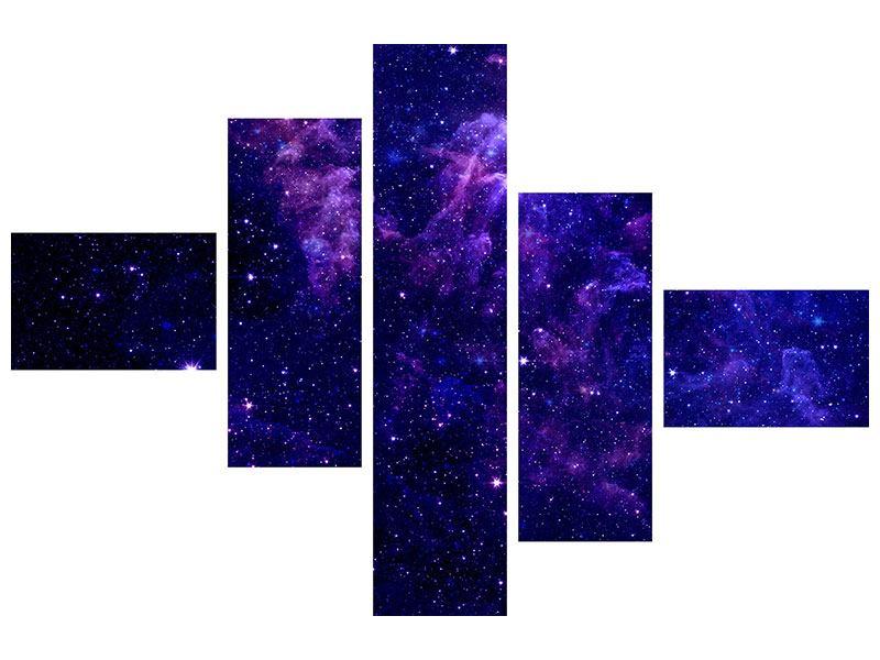 Klebeposter 5-teilig modern Ein Himmel voll Sterne