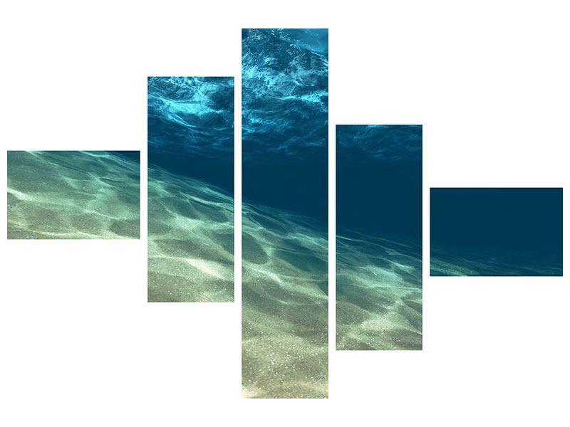 Klebeposter 5-teilig modern Unter dem Wasser