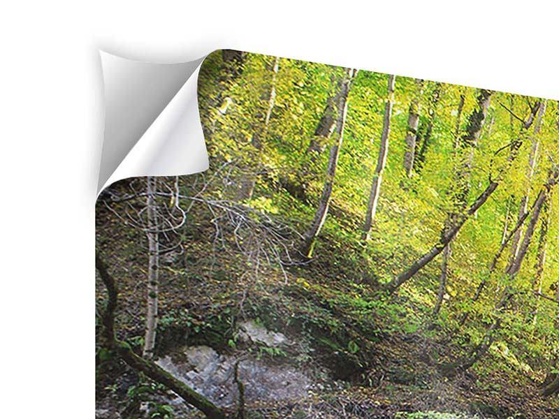 Klebeposter 5-teilig modern Fliessender Wasserfall