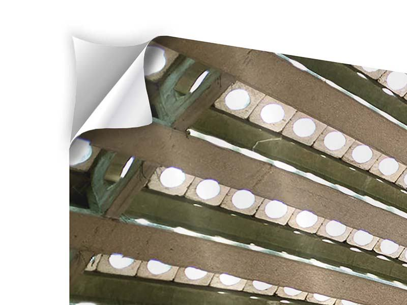 Klebeposter 5-teilig modern Abstraktes Rad