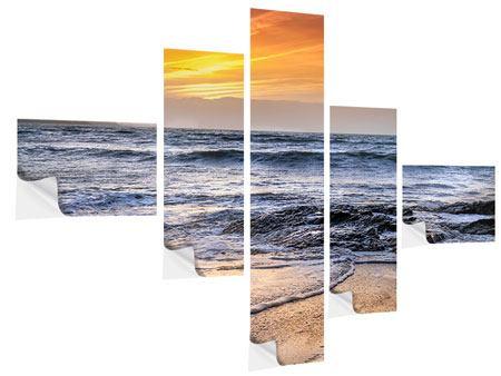 Klebeposter 5-teilig modern Das Meer