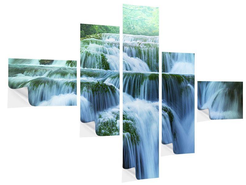 Klebeposter 5-teilig modern Gigantischer Wasserfall