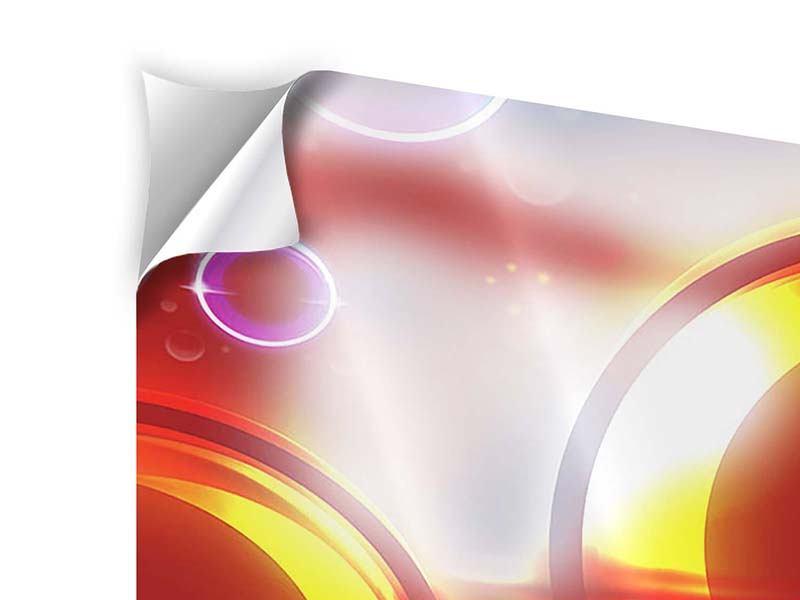 Klebeposter 5-teilig modern Abstraktes Retro