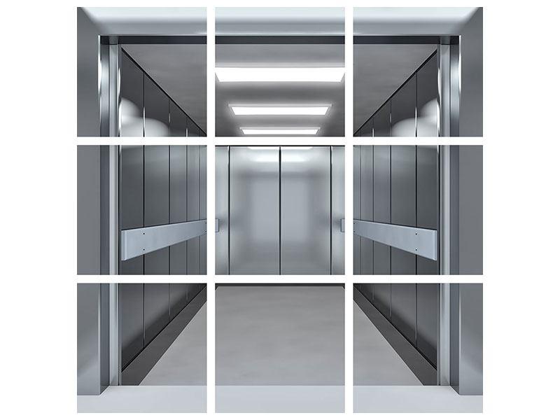 Klebeposter 9-teilig Aufzug