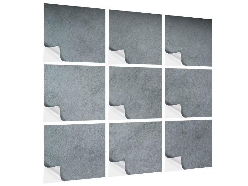 Klebeposter 9-teilig Dunkelgraue Wand