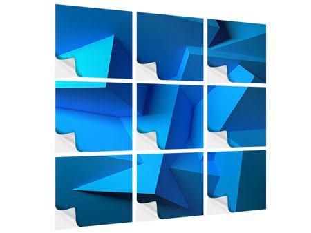 Klebeposter 9-teilig 3D-Abstraktion