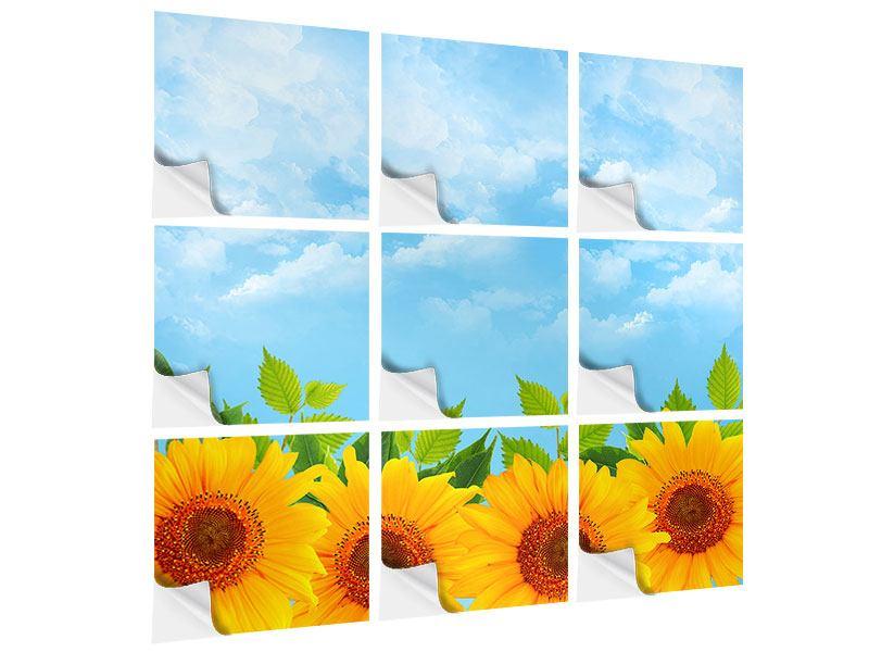 Klebeposter 9-teilig Sonnen Flower Power