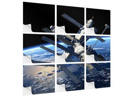 Klebeposter 9-teilig Raumstation