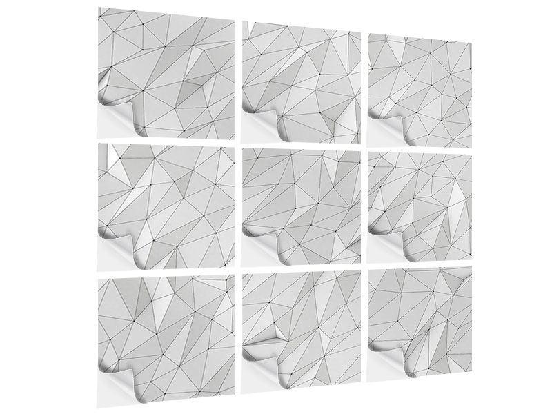 Klebeposter 9-teilig 3D-Geo