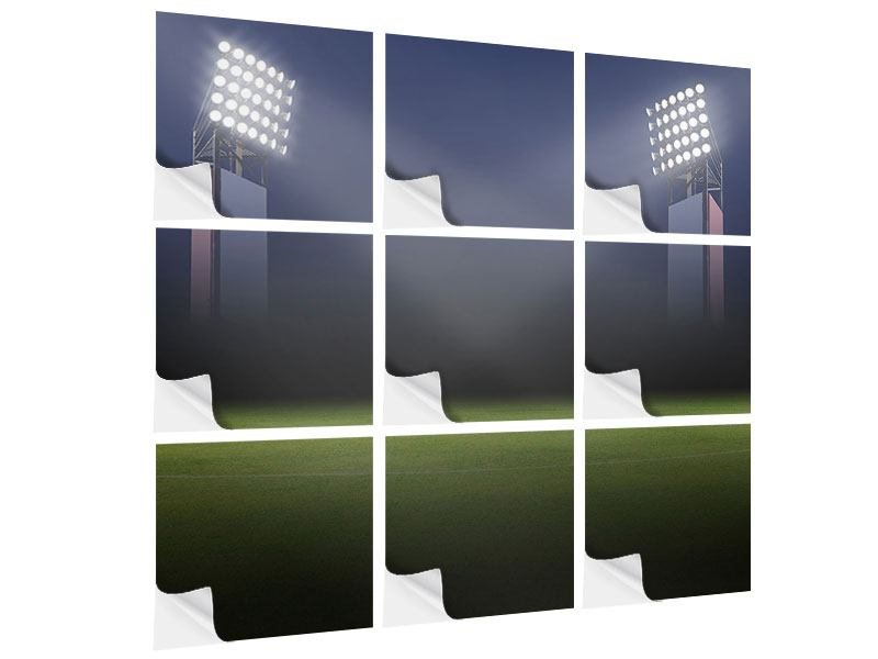 Klebeposter 9-teilig Fussballstadion