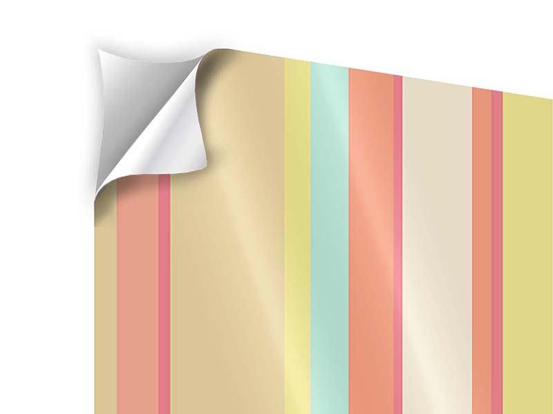 Klebeposter 9-teilig Pastell Streifen