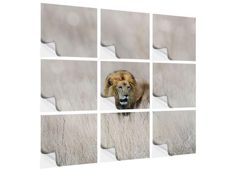 Klebeposter 9-teilig Der Löwe