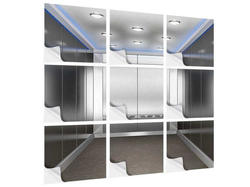 Klebeposter 9-teilig Eleganter Aufzug