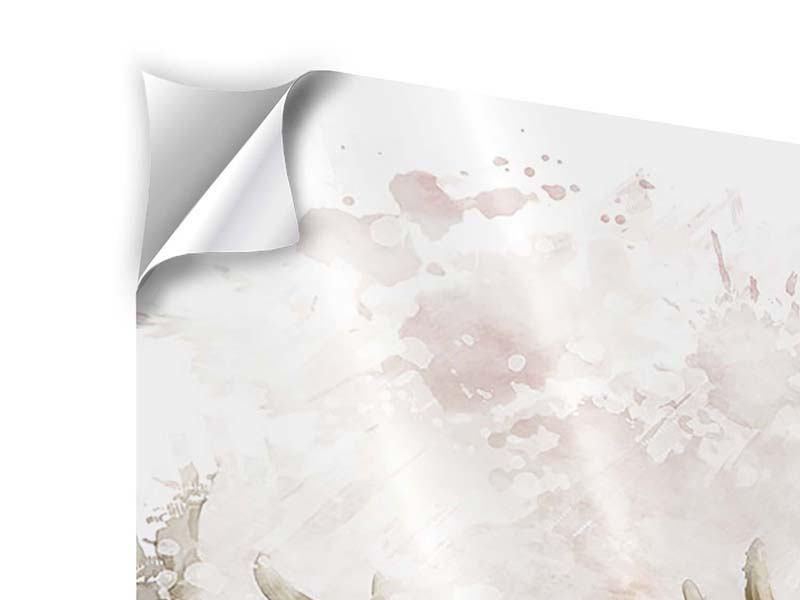 Klebeposter 9-teilig Elch-Gemälde