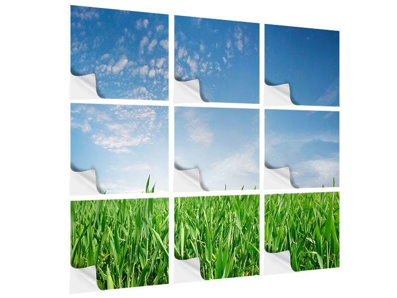 Klebeposter 9-teilig Das Gras