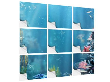 Klebeposter 9-teilig Unter Wasser