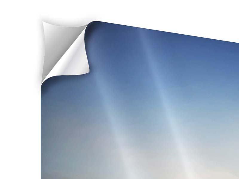 Klebeposter 9-teilig Sonnenaufgang am Feld