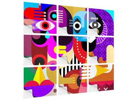 Klebeposter 9-teilig Moderne Kunst People