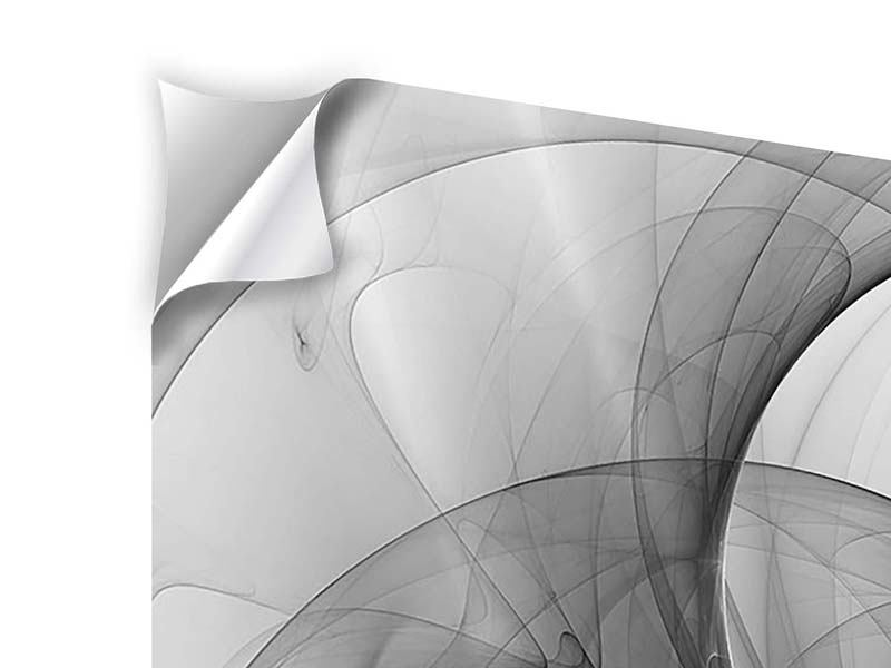 Klebeposter 9-teilig Abstrakte Kreisende Kreise