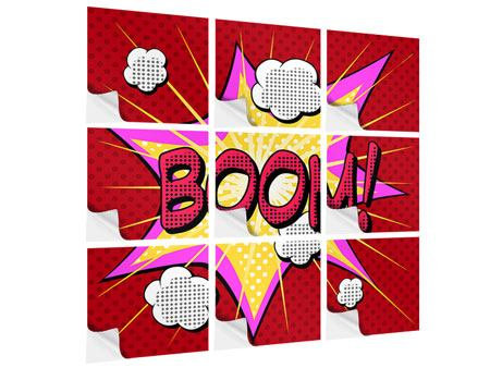 Klebeposter 9-teilig Pop Art Boom