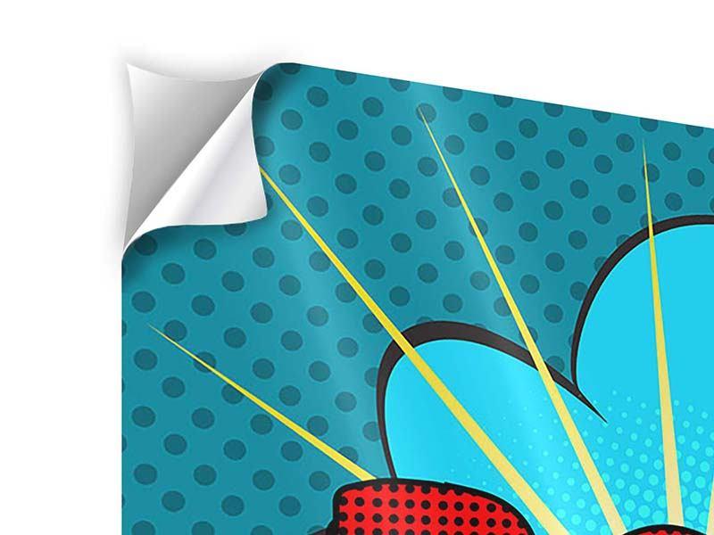 Klebeposter 9-teilig Pop Art Pow