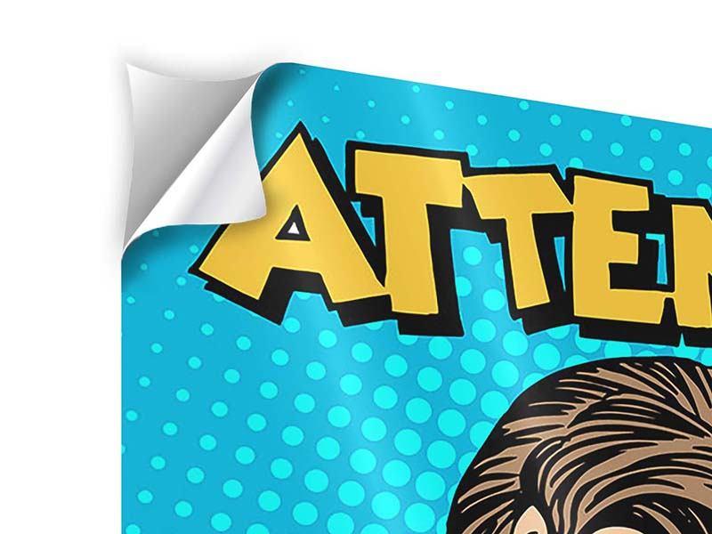 Klebeposter 9-teilig Pop Art Attention