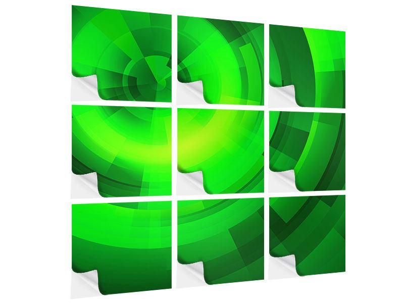 Klebeposter 9-teilig Perspektiven in Grün