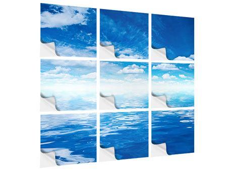 Klebeposter 9-teilig Himmel und Wasser