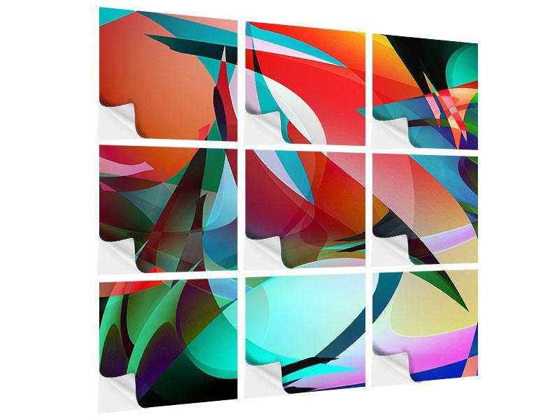Klebeposter 9-teilig Paint