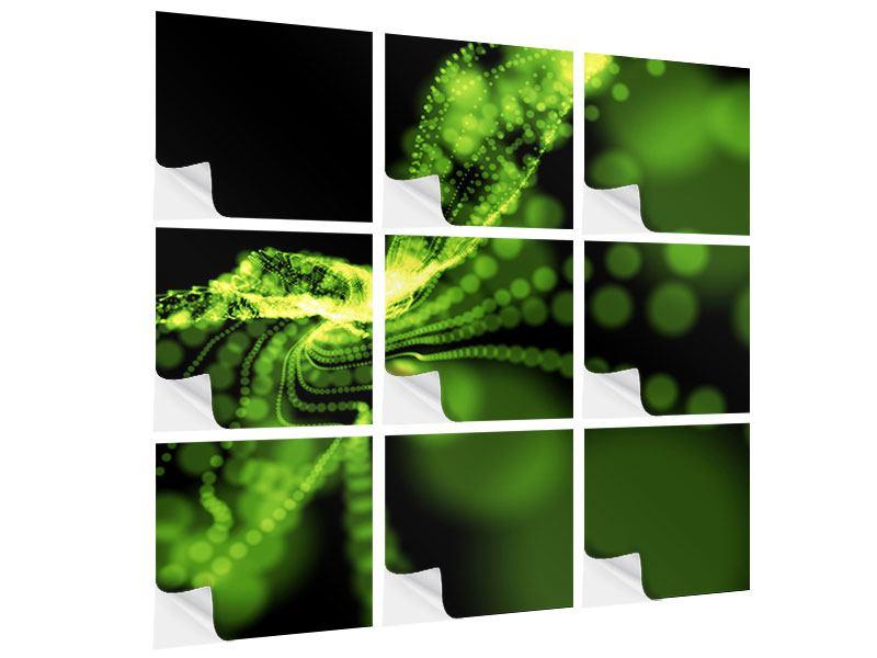 Klebeposter 9-teilig Grünes Lichterspiel