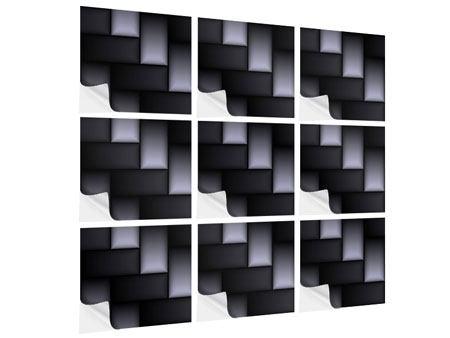 Klebeposter 9-teilig 3D-Treppen