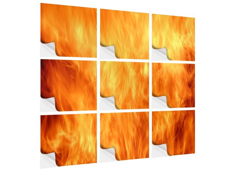 Klebeposter 9-teilig Flammen