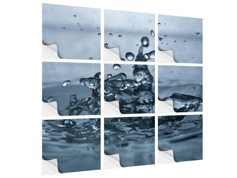 Klebeposter 9-teilig Wassertropfen