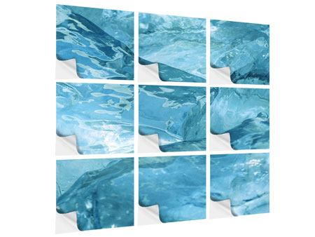 Klebeposter 9-teilig Cooler Eislook
