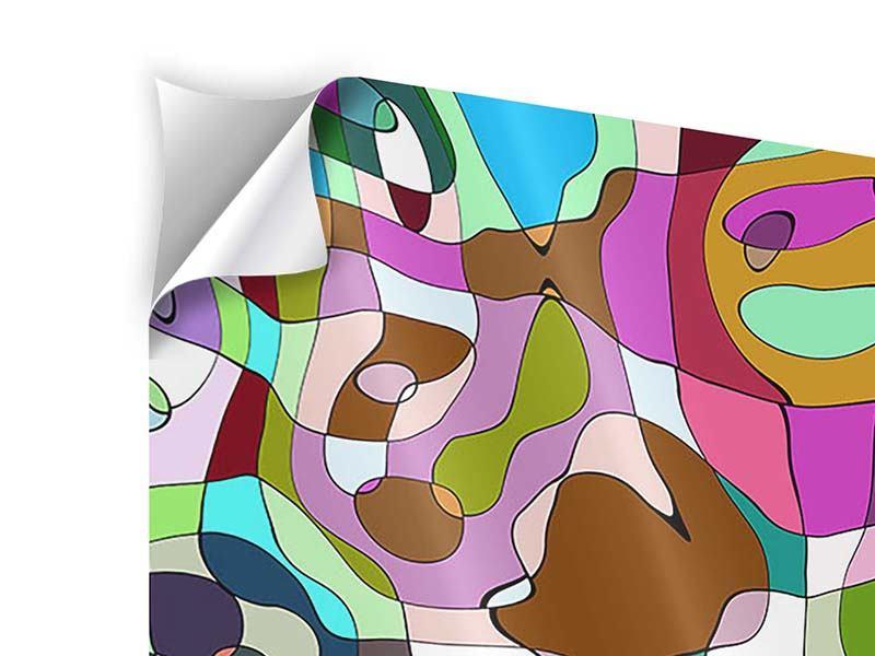 Klebeposter 9-teilig Kubistisches Gemälde