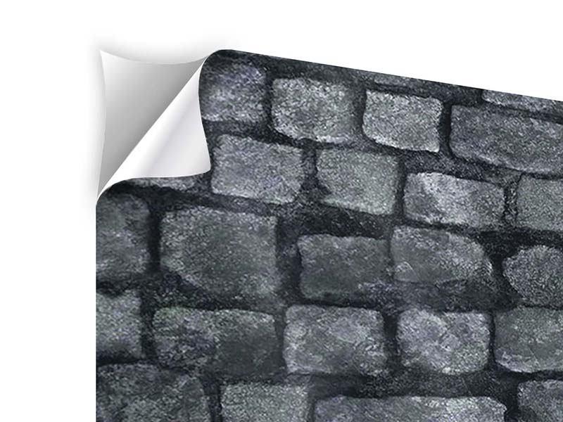 Klebeposter 9-teilig Graue Steinmauer