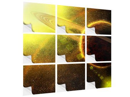 Klebeposter 9-teilig Sterne