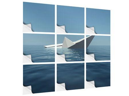Klebeposter 9-teilig Papierschiffchen