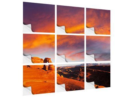 Klebeposter 9-teilig Sonnenuntergang im Canon