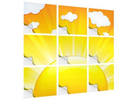 Klebeposter 9-teilig Die Sonne geht auf
